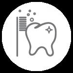 Prophylaxe Icon: Professionelle Zahnreinigung