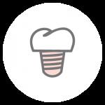 Implantologie Icon: Zahnersatz durch künstliche Zahnwurzeln