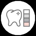 Ästhetische Zahnheilkunde Icon: Bleaching, Korrektur der Zahnstellung, Farbabstimmung